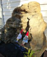 Medium Backyard Garden Vertical Rock Waterfalls MW-005