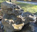 Large Backyard Landscaping Pond Waterfalls LEW-003