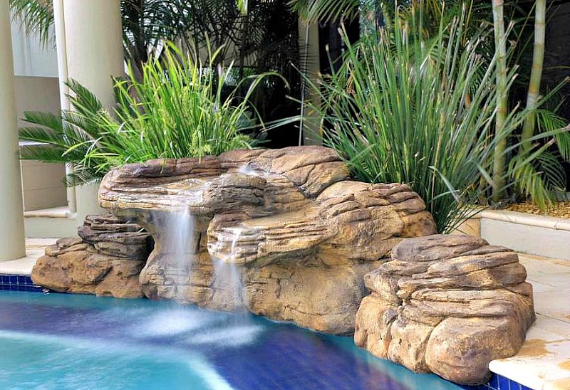 Beachcomber Pool Waterfall Kits | Water Features & Fountains