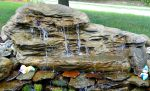 Large Tropical Water Garden Outdoor Waterfalls LEW-002