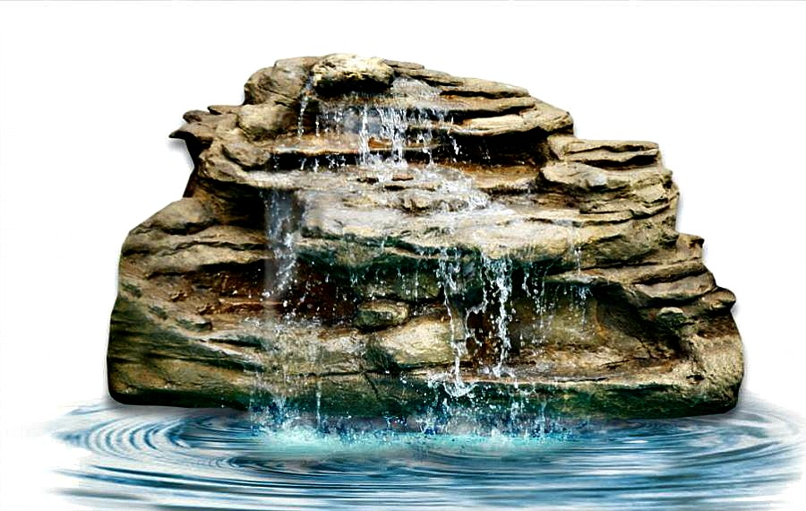 Backyard waterfalls pool pond waterfall fake rocks kits for Garden pond kit