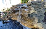 Large Corner Backyard Landscaping Waterfalls LEW-006