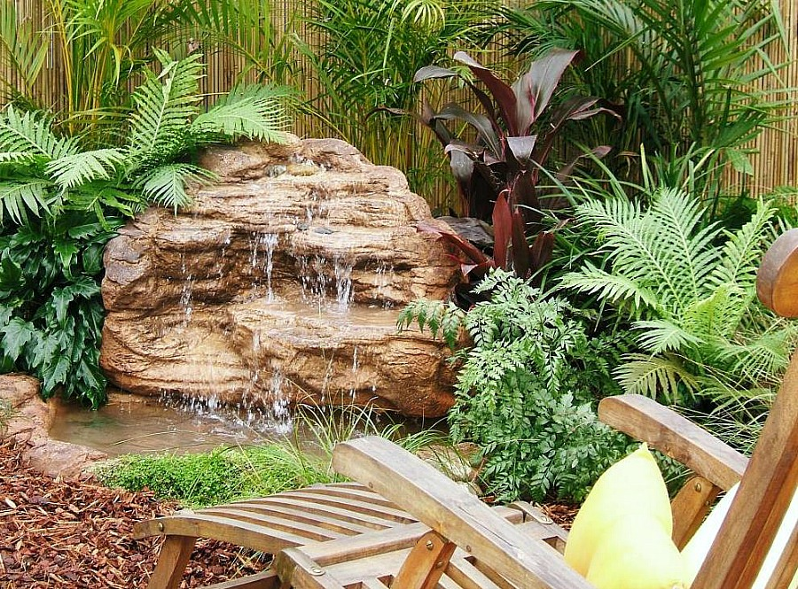 Medium backyard pond waterfall rock kits water features for Outdoor fish pond supplies