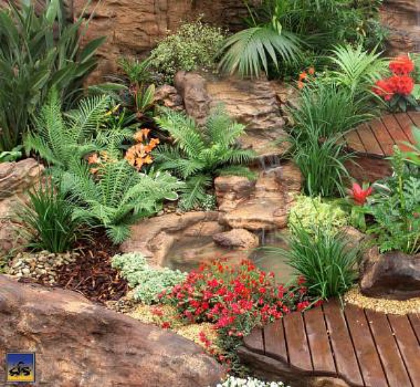 Backyard pond garden creek kits artificial rock waterfalls for Garden pond kit