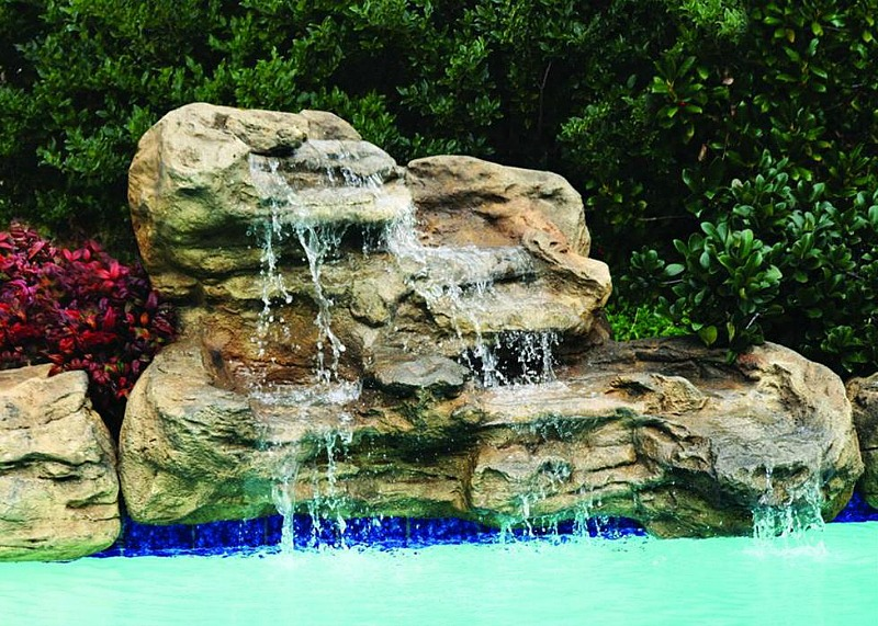 Serenity pool waterfalls kits fake pool rocks fountains for Swimming pools with waterfalls