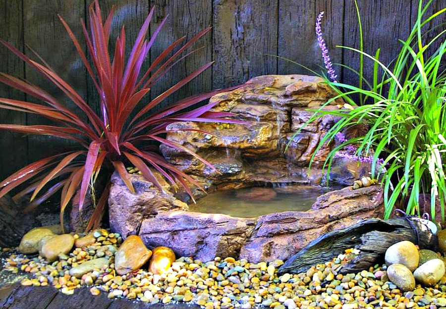 Small Backyard Garden Waterfall Pond Kit SWP 008