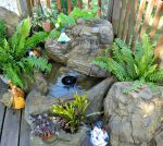 Small Patio Pond Backyard Garden Waterfalls Kit