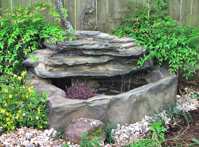 Patio deck garden pond waterfall kits backyard fountains for Garden pond kit