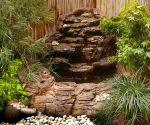 Small Backyard Corner Pond Waterfall Kit SCW-004