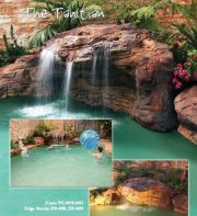 Tahitian Swimming Pool Waterfalls Kits