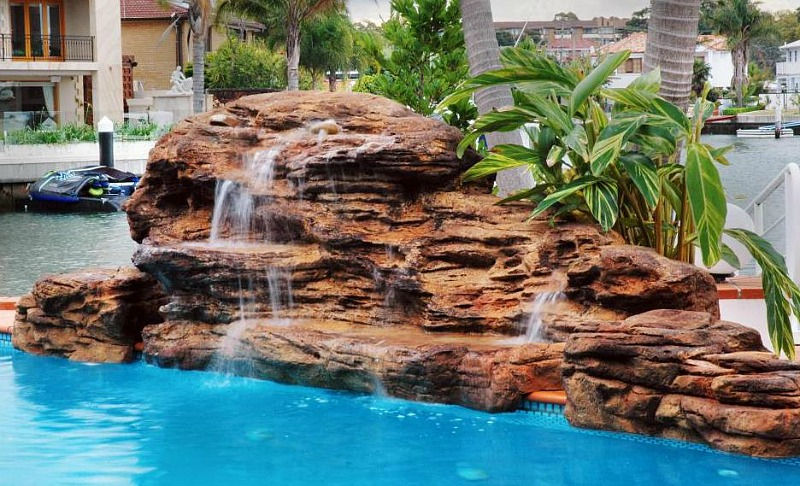 Cascade Swimming Pool Waterfalls Kits Fake Pool Rock