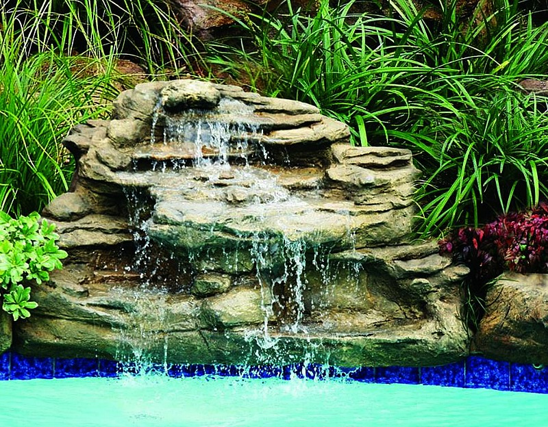 Spirit pool waterfalls kits fake pool rocks water features Small waterfall kit